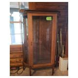 Antique China cabinet, shelves ore on top