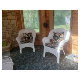 White Wicker chairs #14 & 15  $60.00 each