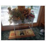 Wicker Planter with silk florals #10  $75.00
