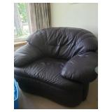 Dark Purple Leather Chair#32  $100.00