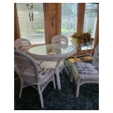 Wicker  Table and chairs #6 $175.00
