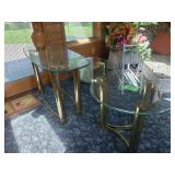 Glass and Brass tables