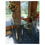 Sofa Table Glass and Brass