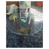 Round end table glass and Brass
