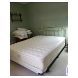 Queen mattress, box spring. Headboard