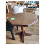 Antique Hexagon Table $90.00