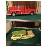 #5 Fire Truck Tonka $40.00, 1959 Ford Fairlane Ranch Wagon $75.00
