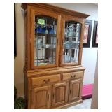 China Cabinet , Lighted, Beveled Glass $175.00