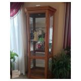 "Lighted Curio Cabinet #4 $100.00 70"" Tall, 36"" W, 12"" D"