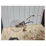 Antique wood and iron plow