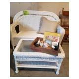 Resin Wicker Love Seat and coffee table set
