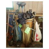 Vintage clubs and bags