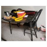 Black Crackle Painted table and 4  chairs