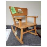 Vintage Musical Toddlers rocking chair