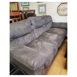 Grey Suede Sofa 86