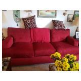 Beautiful Red Sofa- Pre-Sale $250.00