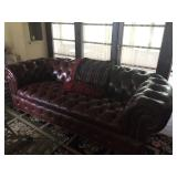 Chesterfield Upholstered Leather Sofa