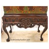 — FANTASTIC —  10 Piece Highly Carved and Ornate Walnut depression Dining Room Set  Original Paint