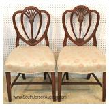 """Set of 6"" Solid Mahogany Carved Sweetheart Dining Room Chairs"