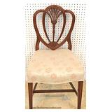 """""""Set of 6"""" Solid Mahogany Carved Sweetheart Dining Room Chairs"""
