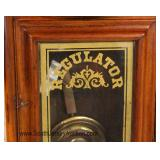 Hanging Regulator Wall Clock in the Mahogany Case