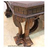 — FANTASTIC —  10 Piece Highly Carved and Ornate Walnut depression Dining Room Set  Original Paint