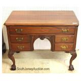 ANTIQUE Mahogany Ball & Claw 5 Drawer Low Boy