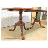 """11 Piece Solid Mahogany Chippendale Style Banded Dining Room Table with 10 Chairs  Table 42""""x76"""" wi"""