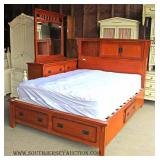 3 Piece CONTEMPORARY Bedroom Set with Mattresses and Underbed Storage