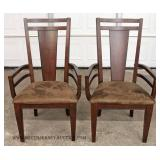 7 Piece CONTEMPORARY Dining Room Table with 6 Chairs in Mahogany Finish