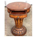 CONTEMPORARY 1 Drawer Inlaid Mahogany Pedestal Stand