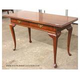 Mahogany Queen Anne 2 Drawer Sofa Table