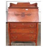 ANTIQUE Oak Slant Front Desk