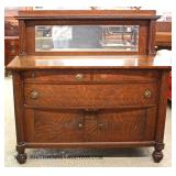 ANTIQUE Mahogany Mirrored Back Sideboard