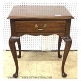 """Solid Mahogany 1 Drawer Queen Anne Night Stand by """"Henkel Harris"""""""