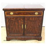 """Mahogany Flip Top Server with Banding by """"Thomasville"""" The Mahogany Collection"""