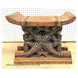 Carved Asian Bench