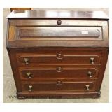 ANTIQUE Walnut Victorian Slant Front Desk