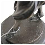 Selection of Antique Style Bronze Statues on Marble Bases