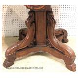 ANTIQUE Walnut Victorian Marble Top Center Table