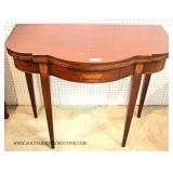 ANTIQUE Federal Mahogany and Inlaid Flip Top Game Table
