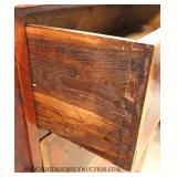 ANTIQUE 5 Drawer Burl Mahogany Banded High Chest