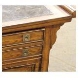 CONTEMPORARY Marble Top Buffet in Walnut Finish