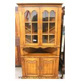 SOLID Maple Country Style Corner Cabinet