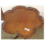 Fancy Mahogany Pierced Carved Scalloped Tilt Top Table
