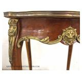 19th Century French Marble Top Center Table with Applied Bronze