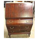 ANTIQUE Mahogany Slant Front Desk