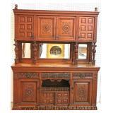 - CONTINENTAL – ANTIQUE 3 Part Oak Court Cupboard Located Inside – Auction Estimate $500-$1000