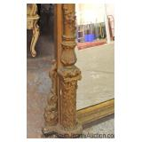 - NICE – ANTIQUE Highly Carved and Ornate Fireplace Over the Mantle Mirror Located Inside - Auction