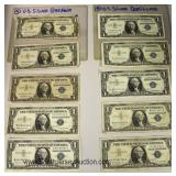 LARGE Selection of Silver Certificate $1.00 Bills Located Inside - Auction Estimate $50-$100 each